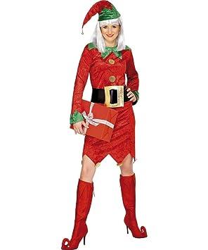 Smiffys Disfraz de duende de Navidad para mujer: Amazon.es ...