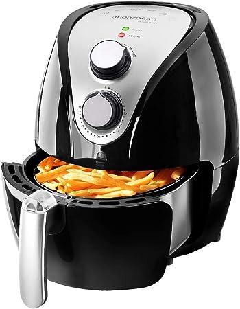 Monzana Freidora de aire caliente incluye folleto de recetas gratis 1500W 3,6 litros 9-en-1 – negro Air Fryer: Amazon.es: Hogar