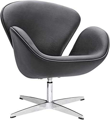 Fine Mod Imports Swan Leather Chair