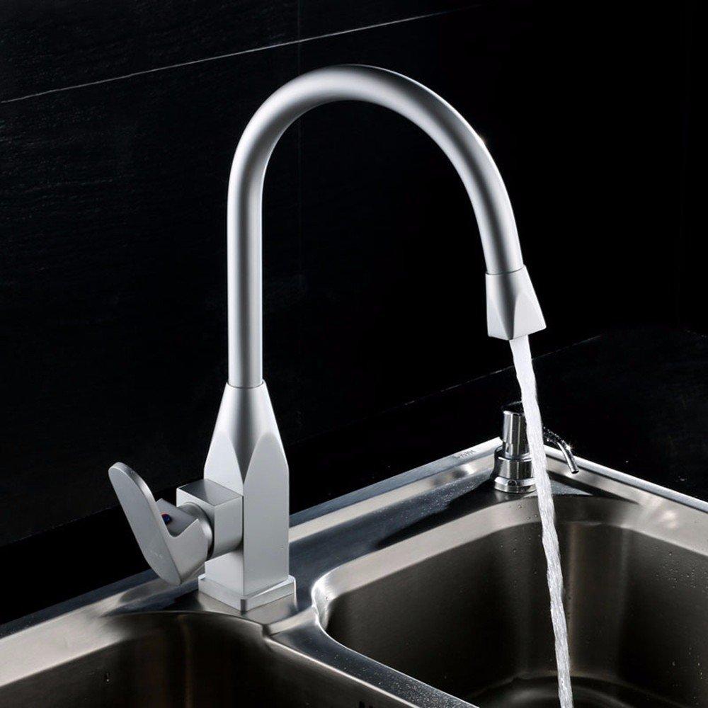 AWXJX Aluminum bathroom WC hot and cold basin Single Hole Sink mixer