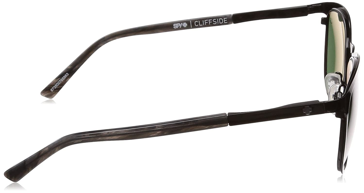 30efd54d6814c SPY CLIFFSIDE BLACK BLACK MARBLE - HAPPY GRAY GREEN SUNGLASSES at Amazon  Men s Clothing store