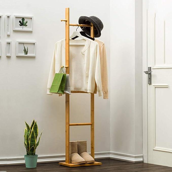 Amazon.com: Perchero de pie para abrigo, estante de madera ...