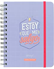 "Mr. Wonderful 2019/20 Semanal - Agenda Rotu ""Estoy que Me Salgo"", 15 x 19,5 x 2,5 cm, 160 Páginas, Morado"