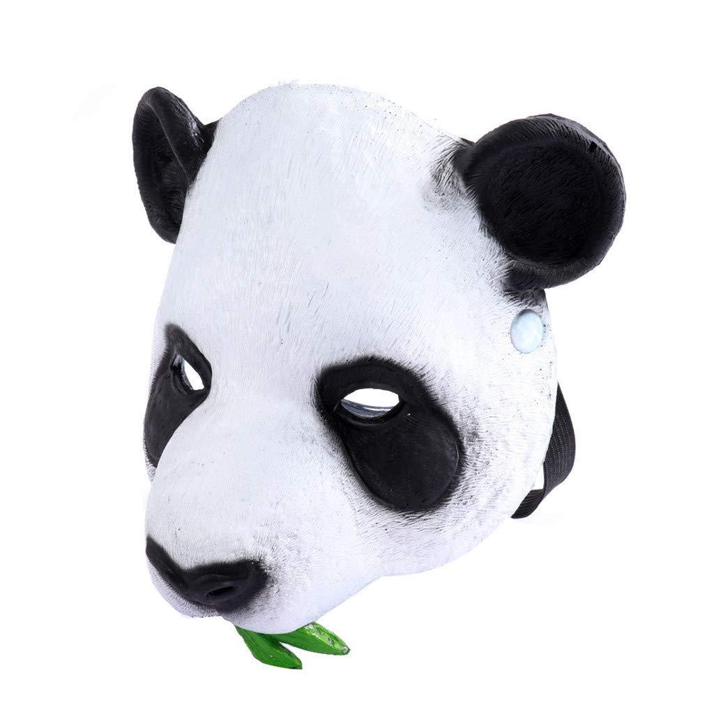 Naladoo Unisex Villains Costume Party Ball Halloween Mardi Gras Half Face Pandas Mask