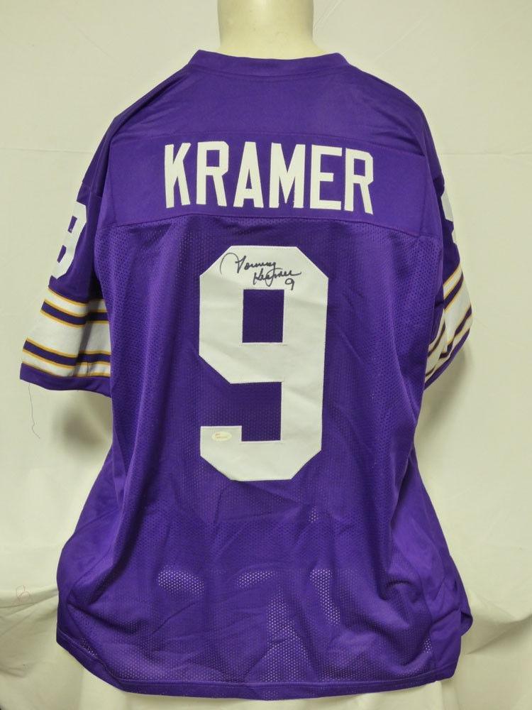 Tommy Kramer Autographed Jersey - Custom - JSA Certified - Autographed NFL Jerseys First Class Autographs