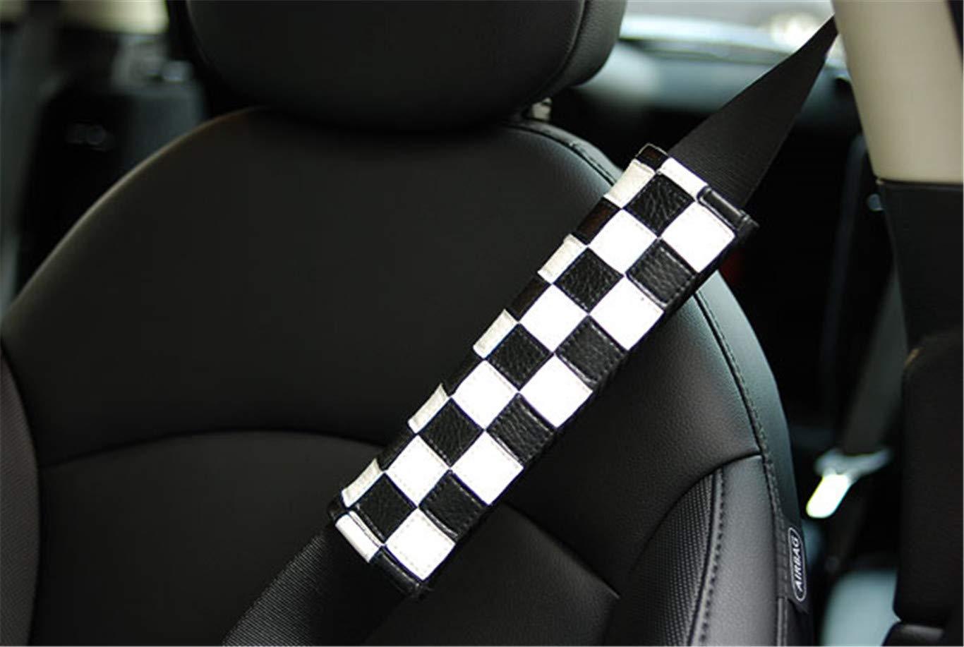 2 st/ücke Auto Sicherheitsgurt Schultergurt Pad Gurt Abdeckung Kissen f/ür Mini Cooper F54 F55 F56 F57 F60 R55 R56 R58 R59 R60 Hardtop Clubman Flie/ßheck Verdeckte Roadster Countryman Checkered