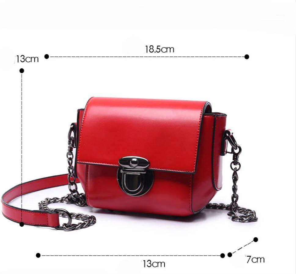 GAOQQ Fashion Woman Bag Female Summer Chain Mini Single Shoulder Bag Small Square Bag Personality Trend Bag,Red