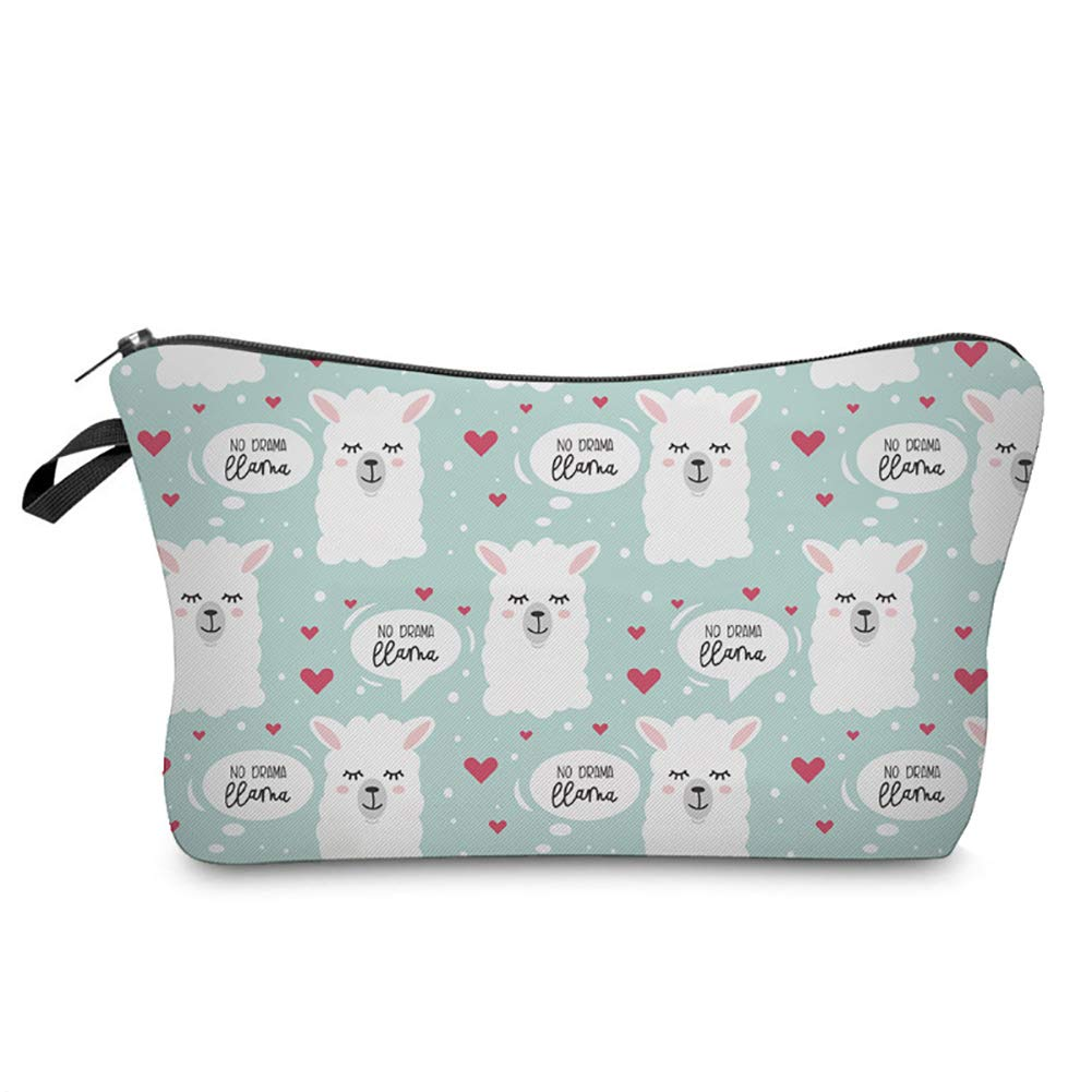 [Perfect Holiday Gift]-Portable Cute Llama Alpaca Printed Travel Cosmetic Storage Bag Container Holder,backpack,handbags for women,shoulder bag for women men,travel backpack