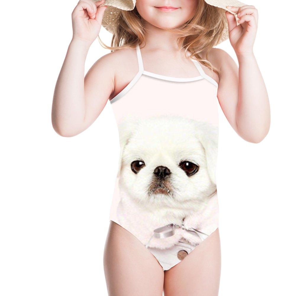 Sannovo Dog Print Children Sport Swim Suit Bikinis Beach Wear for Summer Spring