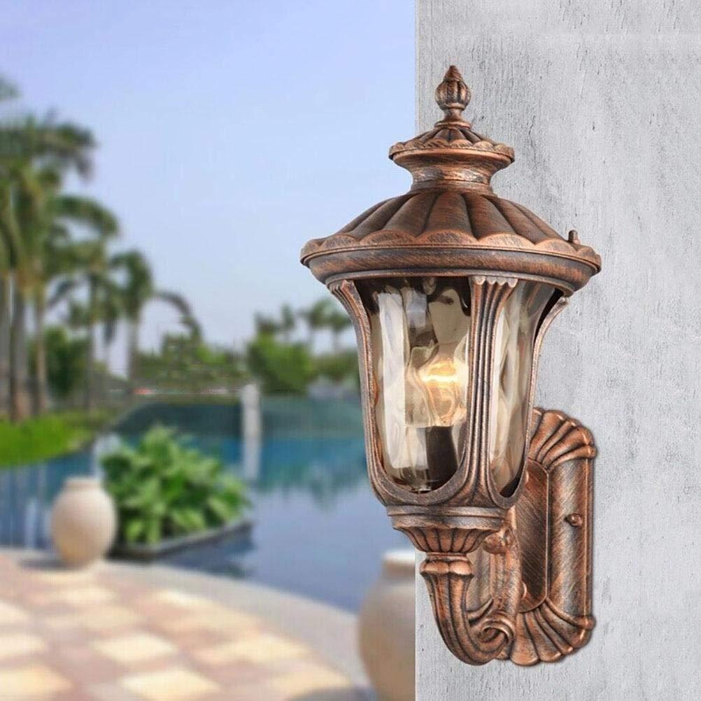 FXING Alluminio Puro Lampada da Parete per Esterno Esterno Impermeabile Balcone corridoio Patio Villa Accessori per Illuminazione E27 220V, 28  23  47cm