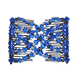 Lovef Ez Magic Beads Combs Double Stretching Combs Clips, perfect for Easy Ponytails, UpDos and Twists, Thick...