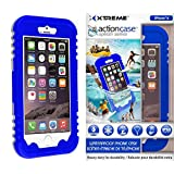 Action Case waterproof iPhone 6 Case w/ Snow, Dirt, Dust, Mud, Sand, Weather, & Shock Proof construction, Adjustable Neck Strap, & Locking Seal Tested at IP68 Standards (Beautiful Blue) by Rebelite