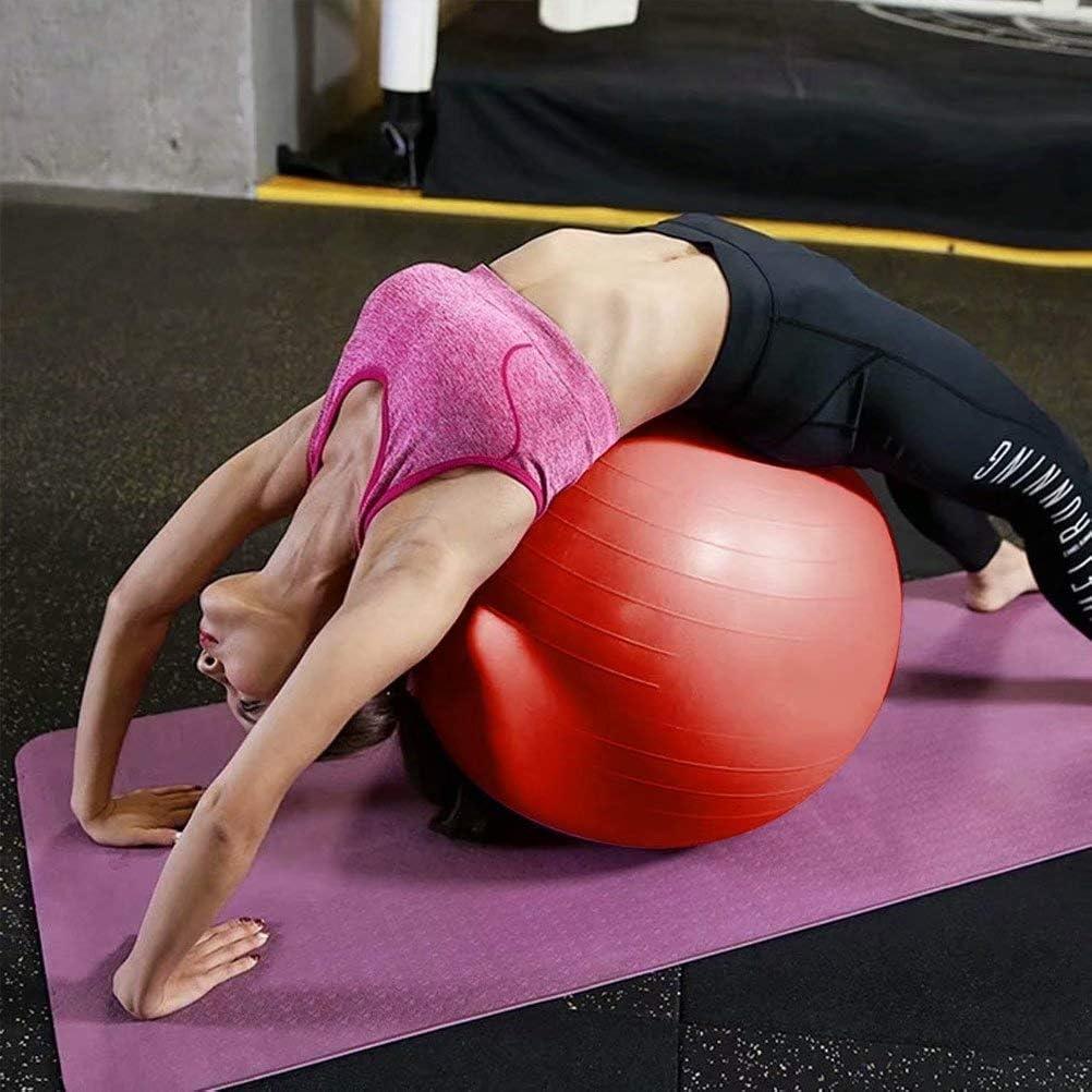 Balance Ball 25cm-105cm Yoga Ball mit Pumpe Anti-Burst Fitness Balance Ball f/ür Core Strength,Rot-25cm DHJWAI,Gymnastikball