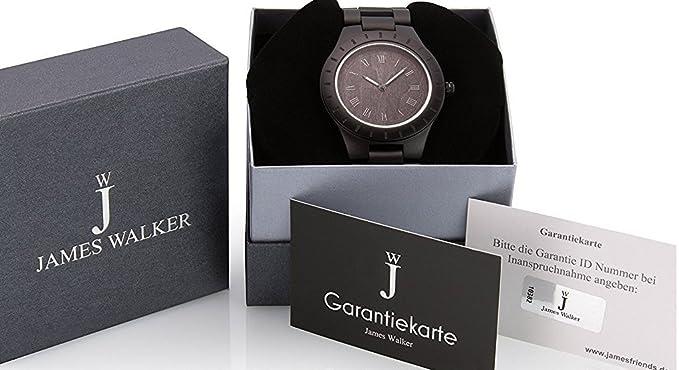 James Walker Negra Black Madera Reloj Gorilla Edition Reloj de pulsera madera apto para hombre y