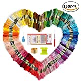 #9: Embroidery Thread and Embroidery floss – Sotica 150 Skeins Embroidery Floss with 16 Pcs Embroidery Needles,friendship bracelet string,Cross Stitch Threads and Cross Stitch Tool Kit, Perfect Embroidery