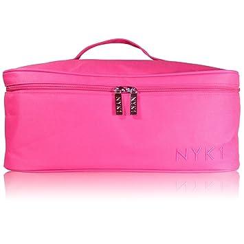 Toiletry Bag Pink Multi Dots toiletries case wash travel ladies travel vanity
