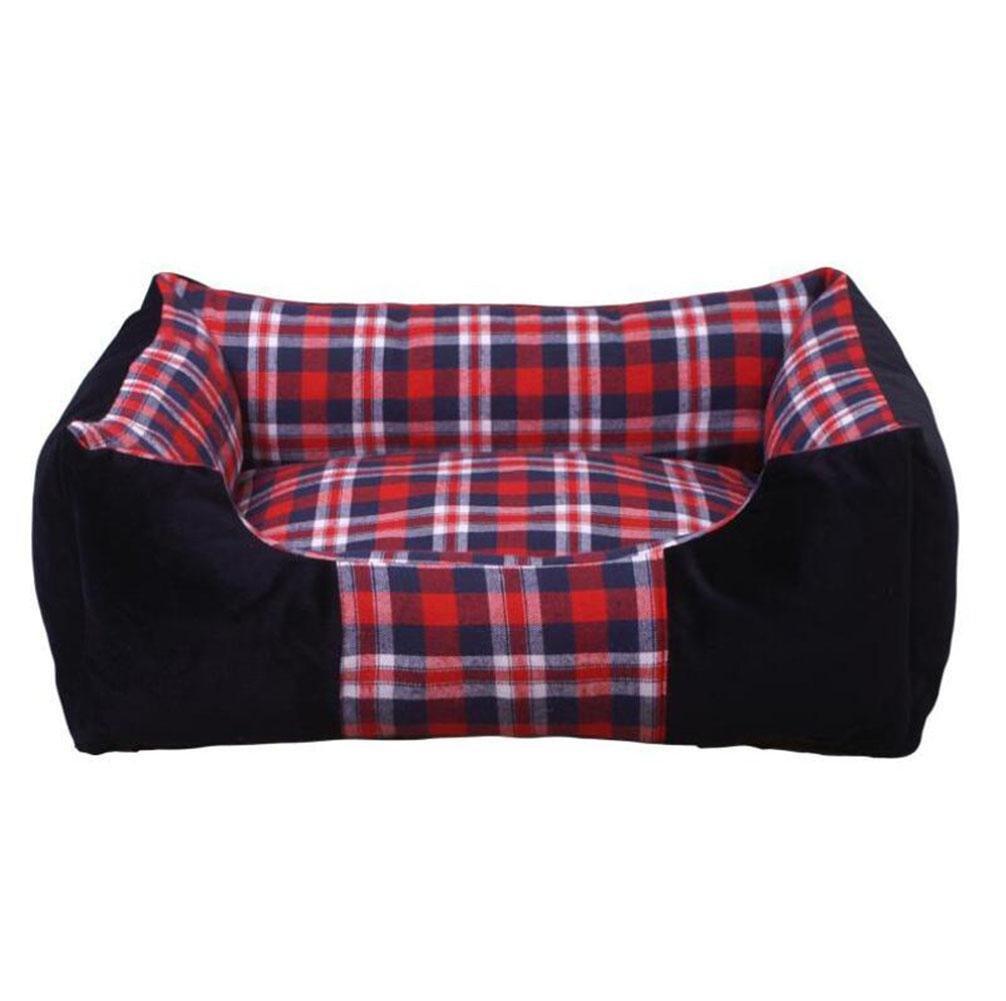 WYXIN Lattice Kennel Confortevole cuscino cuscino cuscino per cani amovibile, caldo e morbido , nero , S 6cf109