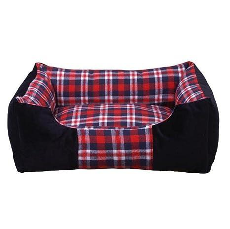WYXIN Lattice Kennel Cómoda cama gruesa y cálida para mascotas Almohada extraíble para perros resistente a