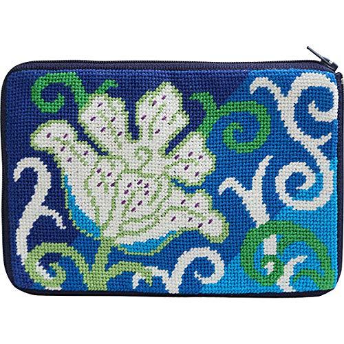 (Stitch & Zip 608 White Tulip Cosmetic Case Needlepoint Kit)