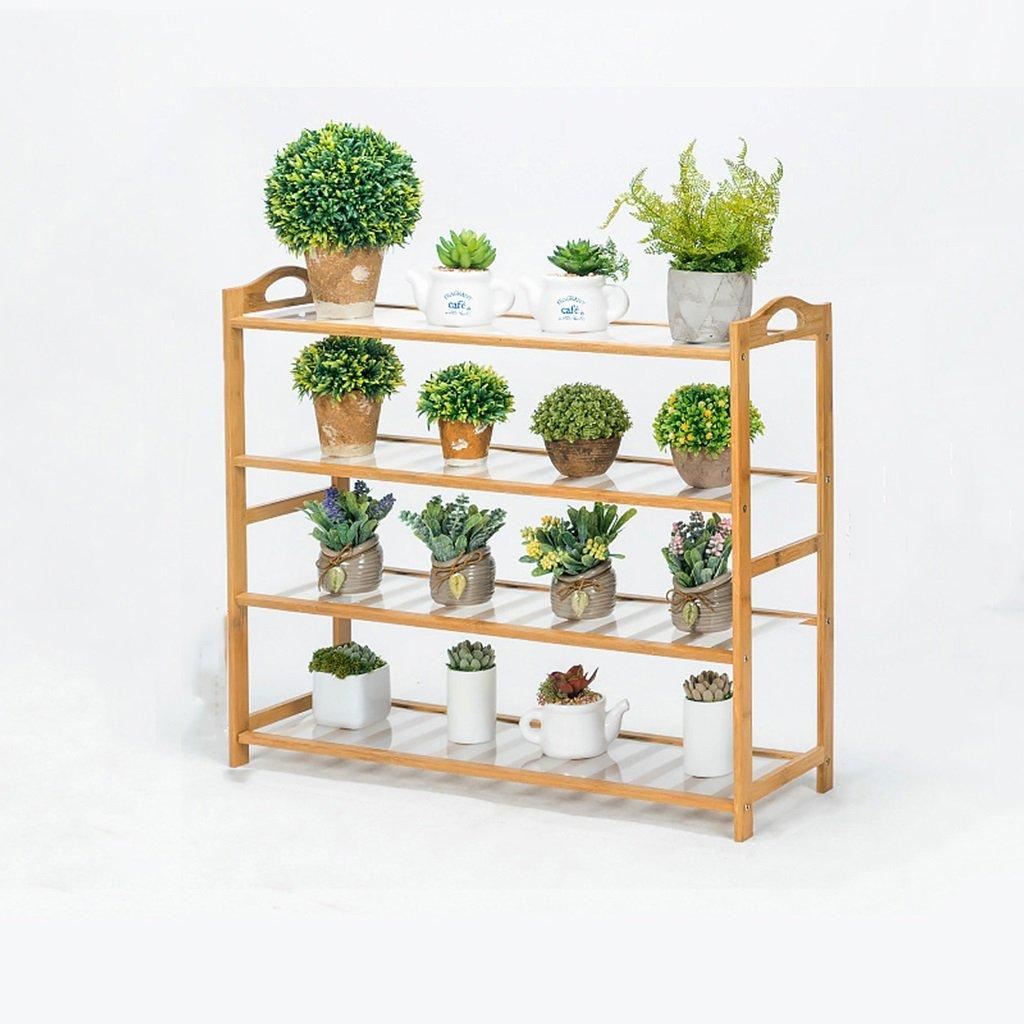 NNIU- Multifonctionnel Balcon Fleur Racks Solide Bois Salon Pots De Fleurs Simple Multi-étages Étagère De Fleur