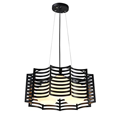 MMYNL Pendentif moderne nordique feux Simple Pendentif Fer Lights Led3 Salon créatif Chef Chambre Restaurant Bar Lampes, D450 * H190mm