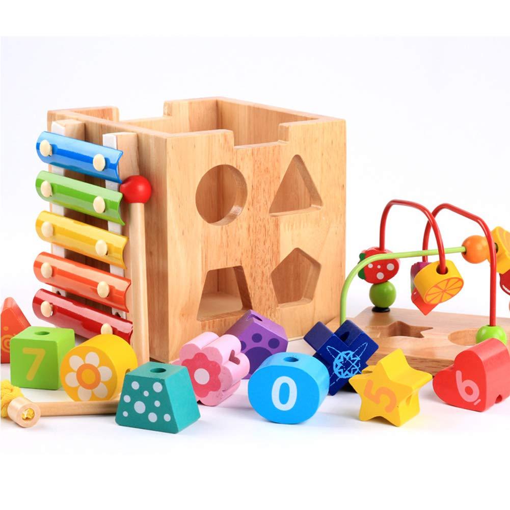 5ff0f06e18 ... Mababys Xilofono Bambino Bambino Bambino Kids Musicali Perle di Legno a  Forma di intelligenza Multifunzionale per ...