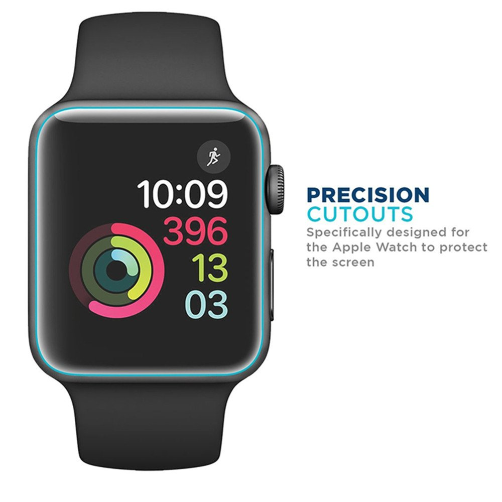 [6 PACK] Apple Watch Screen Protector 38mm Series 3 2 1, KAMII Full Coverage Anti-Bubble Self-Healing Case Friendly HD Clear Film Screen Protector for Apple Watch 38mm by KAMII (Image #3)