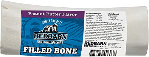 Redbarn Large Filled Bone-Peanut Butter 5-Count