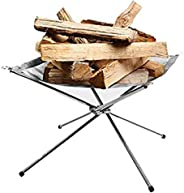 Rootless Portable Outdoor Firepit- Collapsible Steel Mesh Fireplace