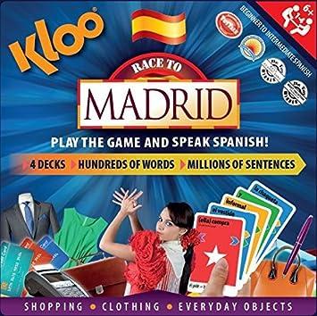 KLOO: Aprende a Hablar Español con el Juego de Mesa en Lengua Inglesa – Carrera a Madrid: Amazon.es: Juguetes y juegos