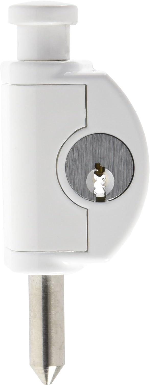 Abus FTR 42 W B FTR42 WC/F Ventana de Seguridad condenó barra para puerta corredera, Blanco