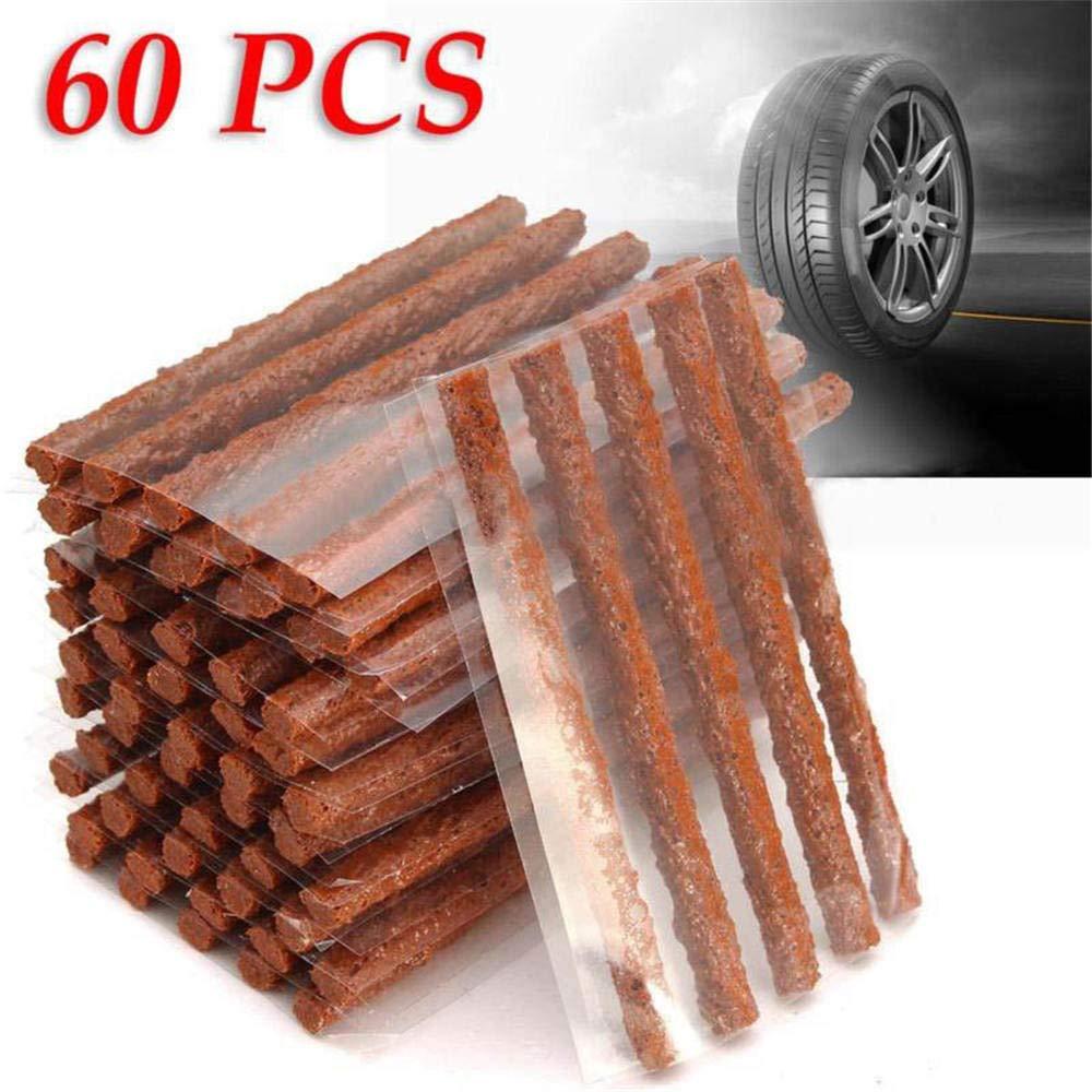 ReFaXi 60xSelf Vulcanizing Tire Repair Plug Parche de Sello sin c/ámara para el Mantenimiento de los neum/áticos
