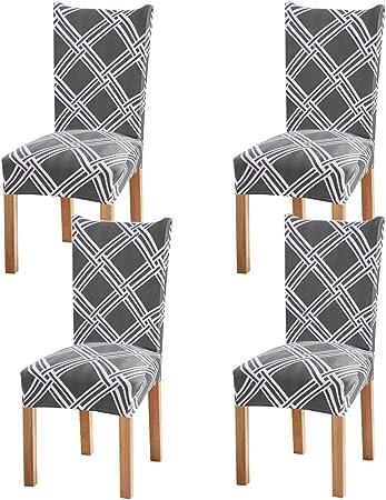 WANYIG Set di 4 coprisedie Elasticizzate per sedie da