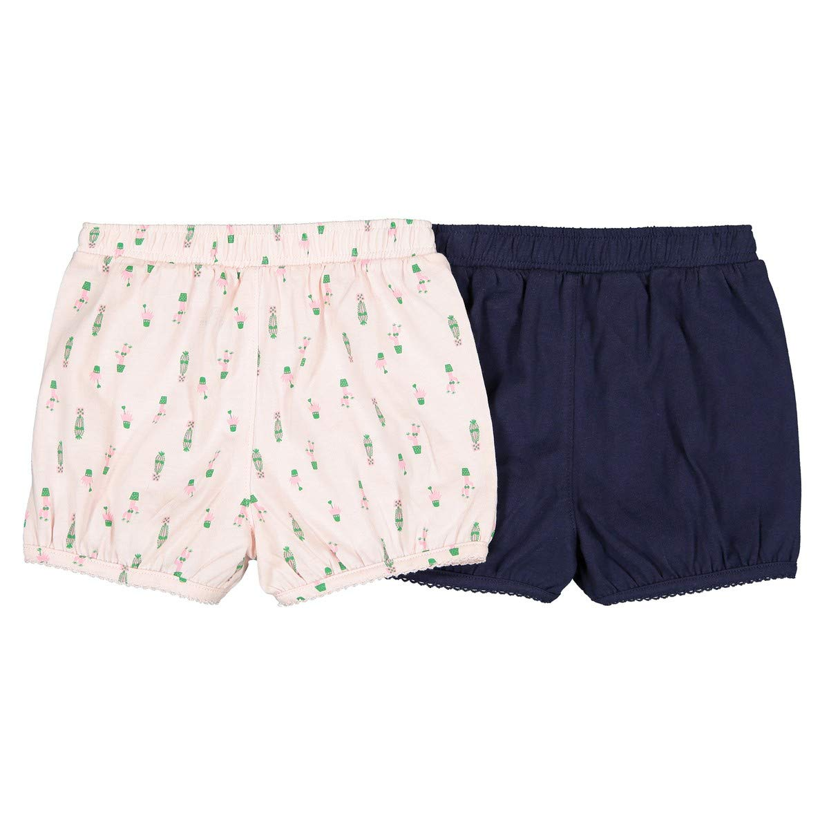 1 Month-3 Years La Redoute Collections Big Girls Pack of 2 Plain and Printed Bloomer Shorts