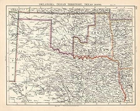 Amazon Com Usa South Central Oklahoma Indian Territory North