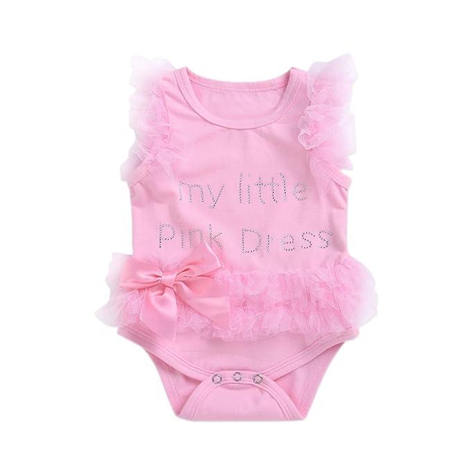 angju Pelele - para bebé Niña Rosa Rosa 0-3 Meses: Amazon.es: Ropa y accesorios