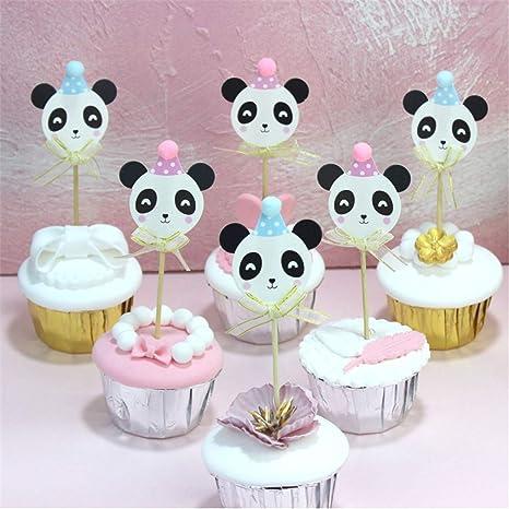 Amazon.com: Adorno para tarta de papel de oso panda de ...