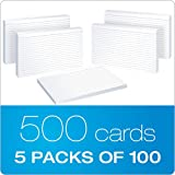 "Oxford Ruled Index Cards, 5"" x 8"" uxCpwt, White, 15 Packs of 100 (51EE)"