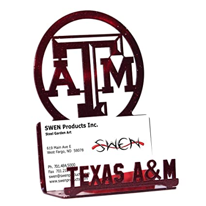 c61441bb29bfe Image Unavailable. Image not available for. Color  SWEN Products TEXAS A M  AGGIES Business Card Holder