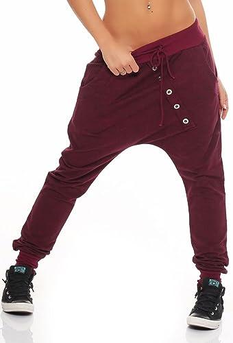 """malito Pantaloni Boyfriend en el """"Tejer"""" Design Baggy Aladin Bombacho Sudadera 7398 Mujer Talla Únic..."""