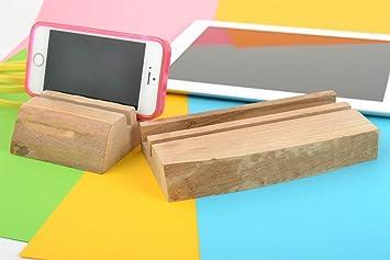 Compra Sujetadores para movil y tablet ecologicos de madera artesanales originales en Amazon.es