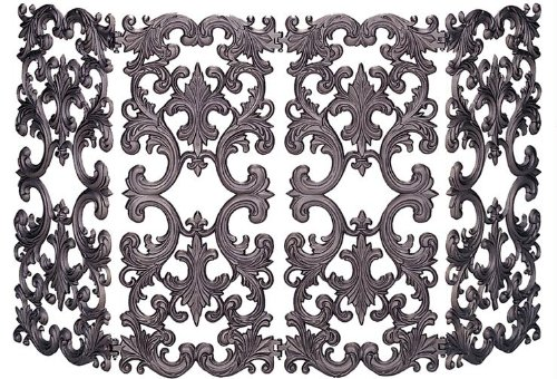 UniFlame 4-Fold Bronze Cast Aluminum Screen by Uniflame