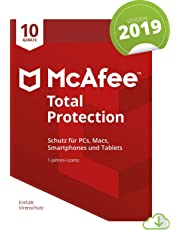 McAfee Total Protection 2019 | 10 Geräte| 1 Jahr | PC/Mac/Smartphone/Tablet | Download [Online Code]