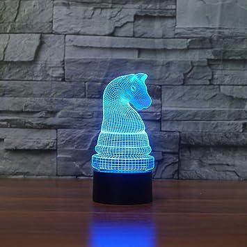 wangZJ Luz de noche 3d / Lámpara 3d / 7 colores Cambio de lámpara ...