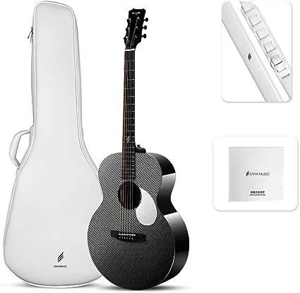 Enya Guitarras Fibra de Carbon EM-X3 36 pulgadas con Elixir ...