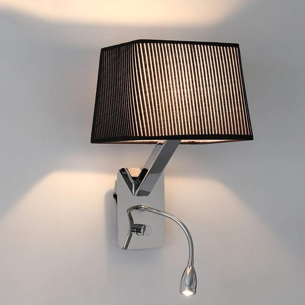 Wandleuchte - Einfache und moderne Nachttischlampe lösen Led Mode Wandleuchten Nordic Schlafzimmer Wohnzimmer Gang Wandleuchte (in 2 Farben verfügbar) - Wand Beleuchtung Dekoration (Farbe  2)