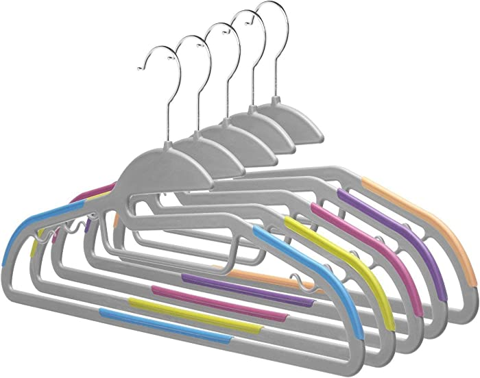 Home-it 30 Pack Light-Weight Clothes Hangers Non-Slip Durable Clothes Hanger Hook Perfect for Pants, Dress, Jacket, Underwear and Shirt Ultra Thin