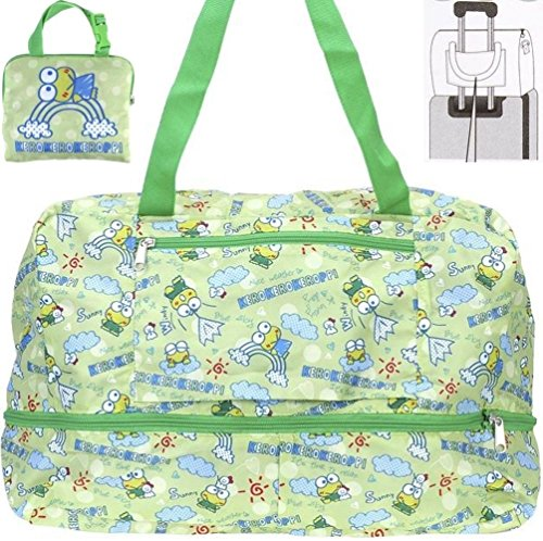 Keroppi Expandable Foldable Travel Duffle Luggage Weekend Gym Sport Shopping Shoulder Bag by KeroKeroKeroppi