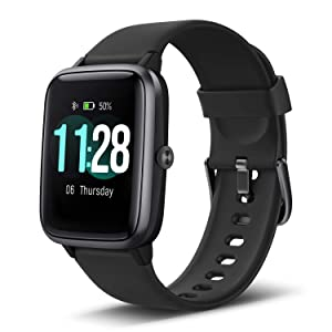 """LETSCOM Smart Watch Fitness Tracker Heart Rate Monitor Step Calorie Counter Sleep Monitor Music Control IP68 Water Resistant 1.3"""" Color Touch Screen Activity Tracking Pedometer for Women Men Kids"""