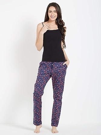 Mystere Paris Classic Floral Print Pajama Sleepwear Nightwear Ladies Womens  Blue Cotton G286B af558bcd3